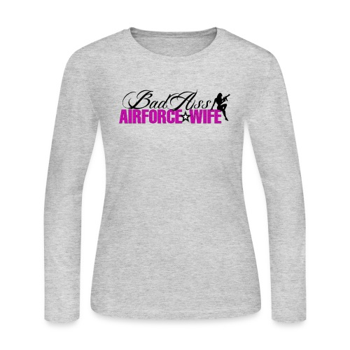BadAss Air Force Wife - Women's Long Sleeve Jersey T-Shirt