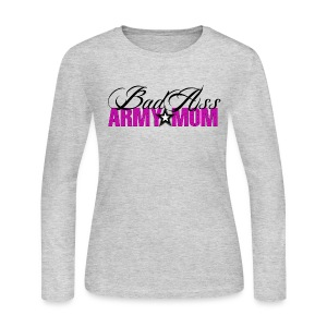 Bad Ass Army Mom - Women's Long Sleeve Jersey T-Shirt