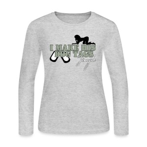 I MAKE HIS DOG TAGS JINGLE  - Women's Long Sleeve Jersey T-Shirt