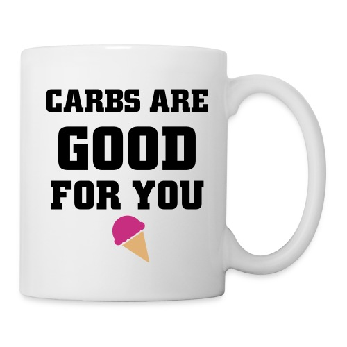 Coffee/Tea Mug - tan,shit fat girls say,local hooker,hot,dirty,carbs go straight to my boobs,boobs,blond,blndsundoll4,Trisha Paytas,Trish,Grindhousebarbarbie,Carbs,AGT