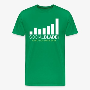 Social Blade - 2017 (Green) - Men's Premium T-Shirt