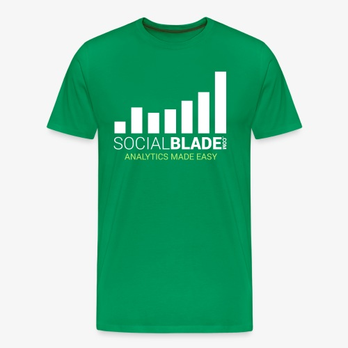 Social Blade - 2017 (Green) - Men's Premium T-Shirt