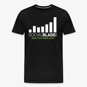 Social Blade - 2017 (Black) - Men's Premium T-Shirt