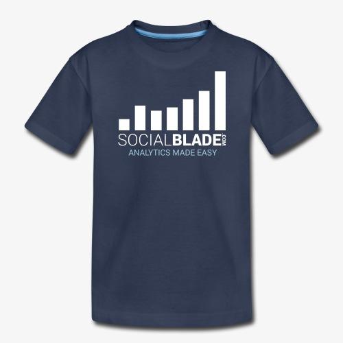 Social Blade 2017 - Youth (Navy) - Kids' Premium T-Shirt
