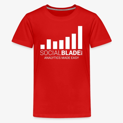 Social Blade (2017) - Youth (Red) (Easy) - Kids' Premium T-Shirt