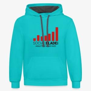 Social Blade 2017 - Hoodie Colored (Scuba) - Contrast Hoodie