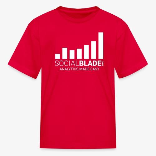 Social Blade (2017) - Kids (Red) (Easy) - Kids' T-Shirt
