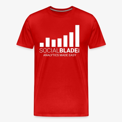 Social Blade - 2017 (Red) - Men's Premium T-Shirt