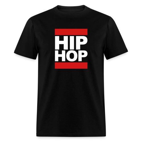 HipHop, White Letters - Men's T-Shirt