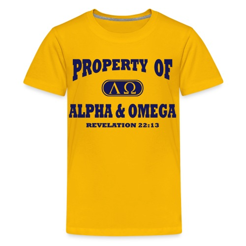 Alpha Omega Kids' Shirts - Kids' Premium T-Shirt