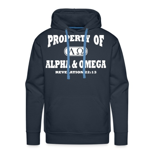 Alpha Omega Men's Long Sleeve - Men's Premium Hoodie