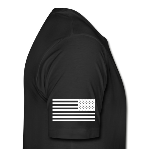 Black Shirt w/Flag Sleeve - Men's Premium T-Shirt