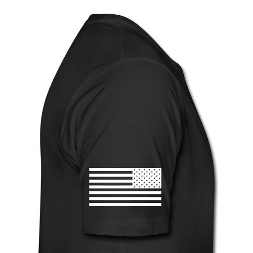 Black Shirt w/Flag Sleeve - Men's Premium T-Shirt