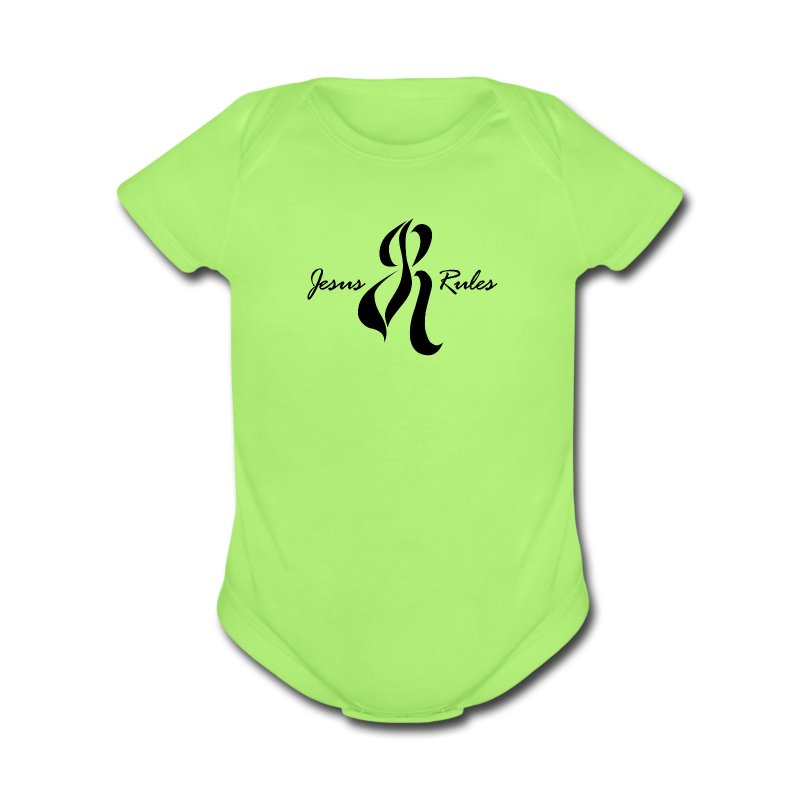 Jesus Rules - Short Sleeve Baby Bodysuit