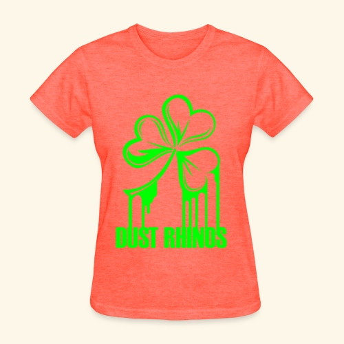 Painted Shamrock = Ladies - Women's T-Shirt