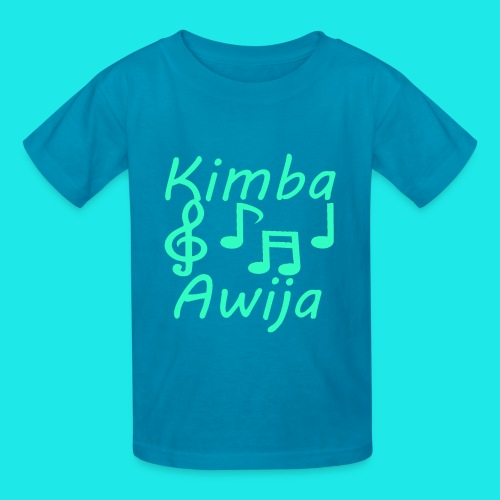 Kimba Awija Shirt green blue design - Kids' T-Shirt