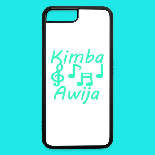 Kimba Awija Iphone 7 plus case green blue design - iPhone 7 Plus/8 Plus Rubber Case
