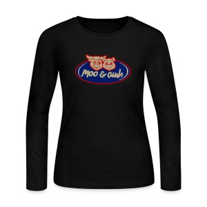 Moo and Oink - Women's Long Sleeve Jersey T-Shirt