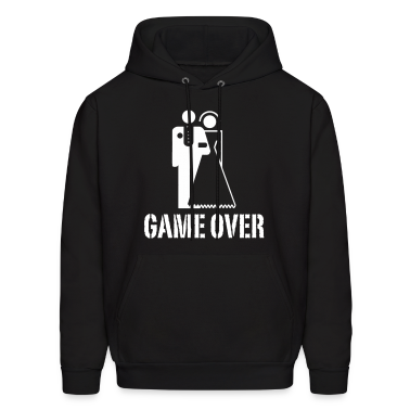 Game Over Marriage Design Hoodies