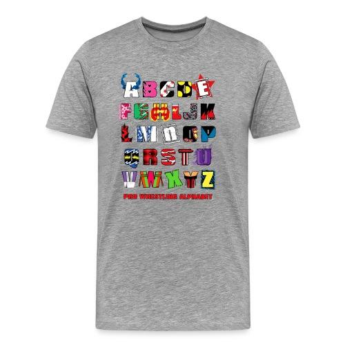 Alphabet (Men, 3XL-4XL) - Men's Premium T-Shirt