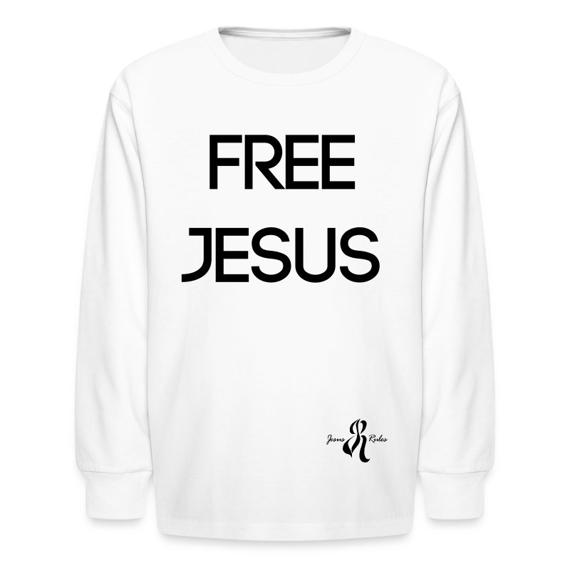 Jesus Rules - Kids' Long Sleeve T-Shirt