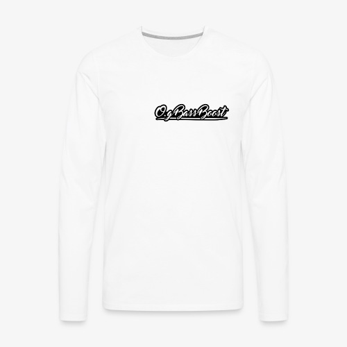 O.G Bass Boost White Long Sleeve - Men's Premium Long Sleeve T-Shirt