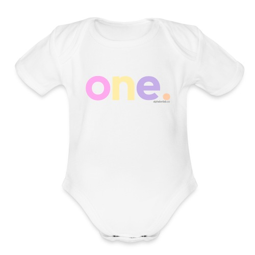 Shirt - One Year Old - Organic Short Sleeve Baby Bodysuit