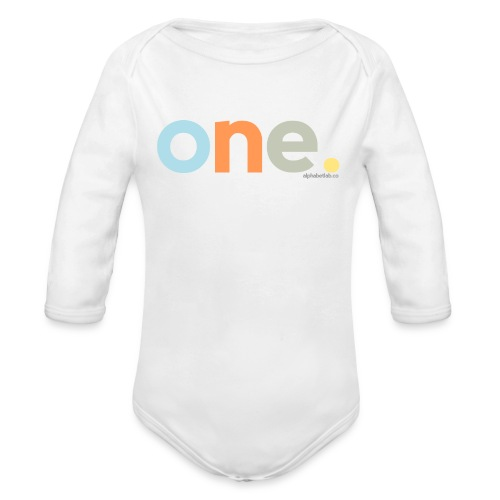 Long-sleeve Shirt - One Year Old - Organic Long Sleeve Baby Bodysuit