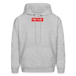 Mad Teach Box Logo Men's Grey Hoodie - Men's Hoodie