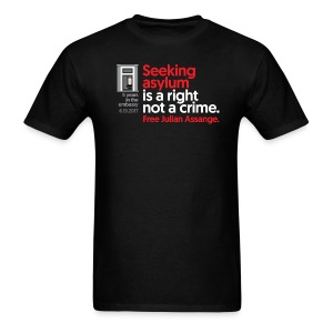 5 years in the embassy - Asylum is not a crime - Men's T-Shirt