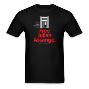 5 years in the embassy - Free Assange - Men's T-Shirt