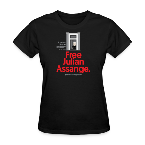 5 years in the embassy - Free Assange - Women's T-Shirt