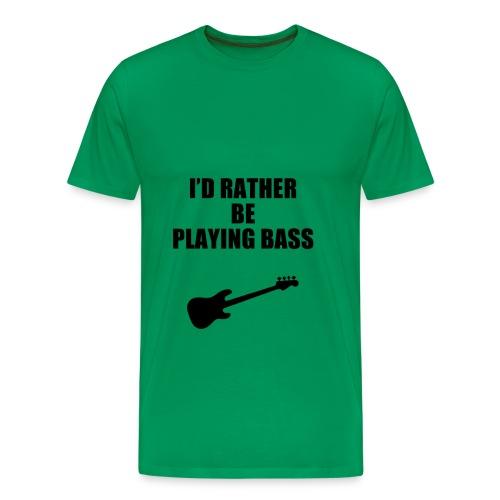 Playing Bass Guitar T-shirts - Men's Premium T-Shirt