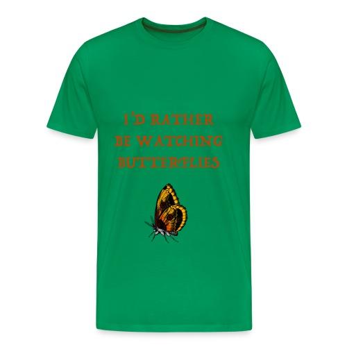 Watching Spotting Butterflies T-shirts - Men's Premium T-Shirt
