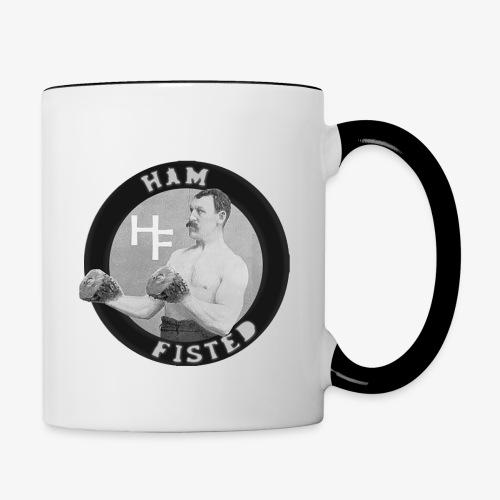 Ham fisted cuppa - Contrast Coffee Mug