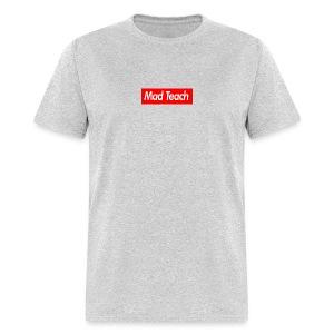 Mad Teach Box Logo Grey Men's T-Shirt  - Men's T-Shirt