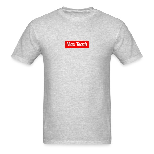 Mad Teach Box Logo Grey Men's T-Shirt  - Men's T-Shirt