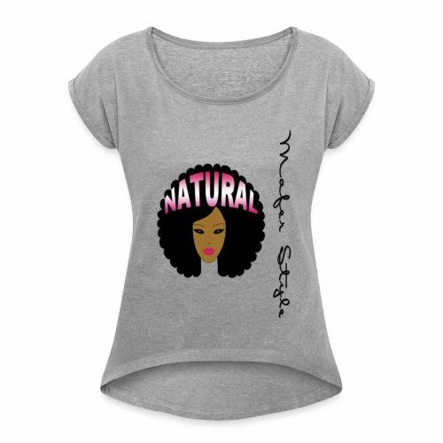 i Love my Afro 36 - Women's Roll Cuff T-Shirt