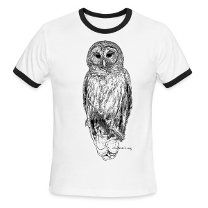 Barred Owl - 8630_stroked - Men's Ringer T-Shirt