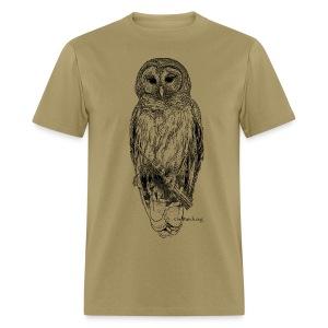 Barred Owl - 8630_stroked - Men's T-Shirt