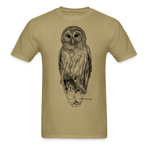 Barred Owl - 8630_stroked - Men's T-Shirt
