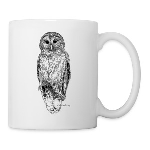 Barred Owl - 8630_stroked - Coffee/Tea Mug