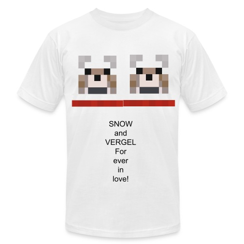 Snow and Vergel forever in love (Mens) - Men's Fine Jersey T-Shirt