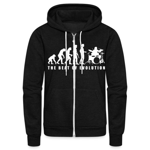 THe Beat of Evolution - Unisex Fleece Zip Hoodie