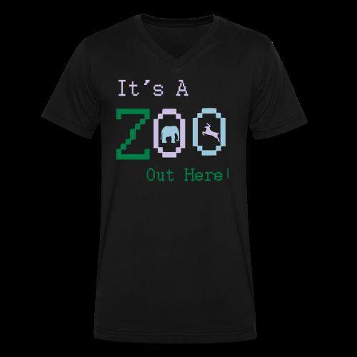 It's a Zoo out here! - Men's V-Neck T-Shirt by Canvas