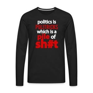 Politricks long sleave tee - Men's Premium Long Sleeve T-Shirt