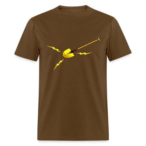Dr. Amp's Gold Shit Digging Shovel [Twin Peaks] - Men's T-Shirt