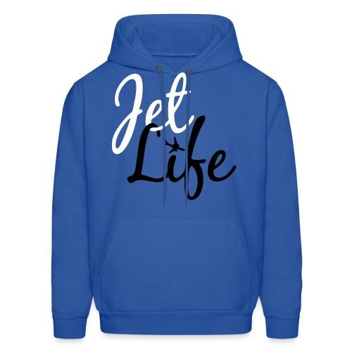 Jet Life Hoodie (Blue/Black/White) - Men's Hoodie