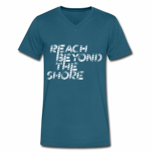 REACH BEYOND THE SHORE COLLECTION  - Men's V-Neck T-Shirt by Canvas