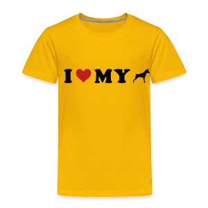 I Heart My Min Pin - Toddler Premium T-Shirt